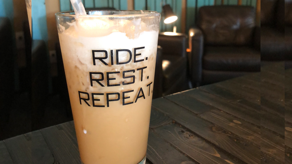 This is an image of Fit & Fuel's iced caramel macchiato. The only place you can get more coffee than ice in your cup.